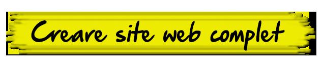 Creare site, Realizare Site, Servicii web prin firma de web design Bucuresti, Romania